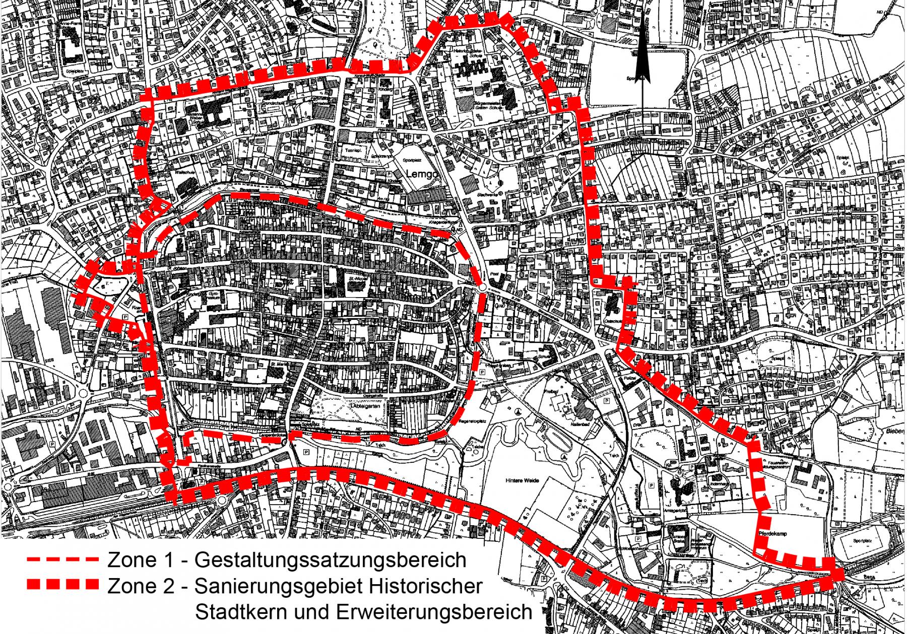 Geltungsbereiche: Zone 1 und Zone 2