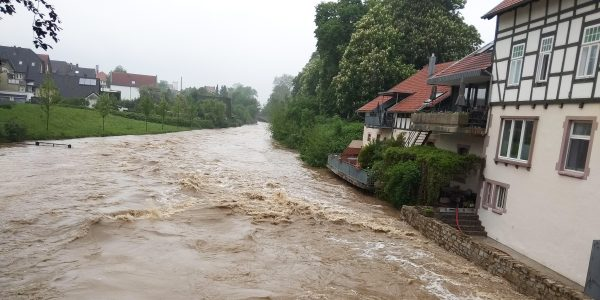 Hochwasser an der Bega