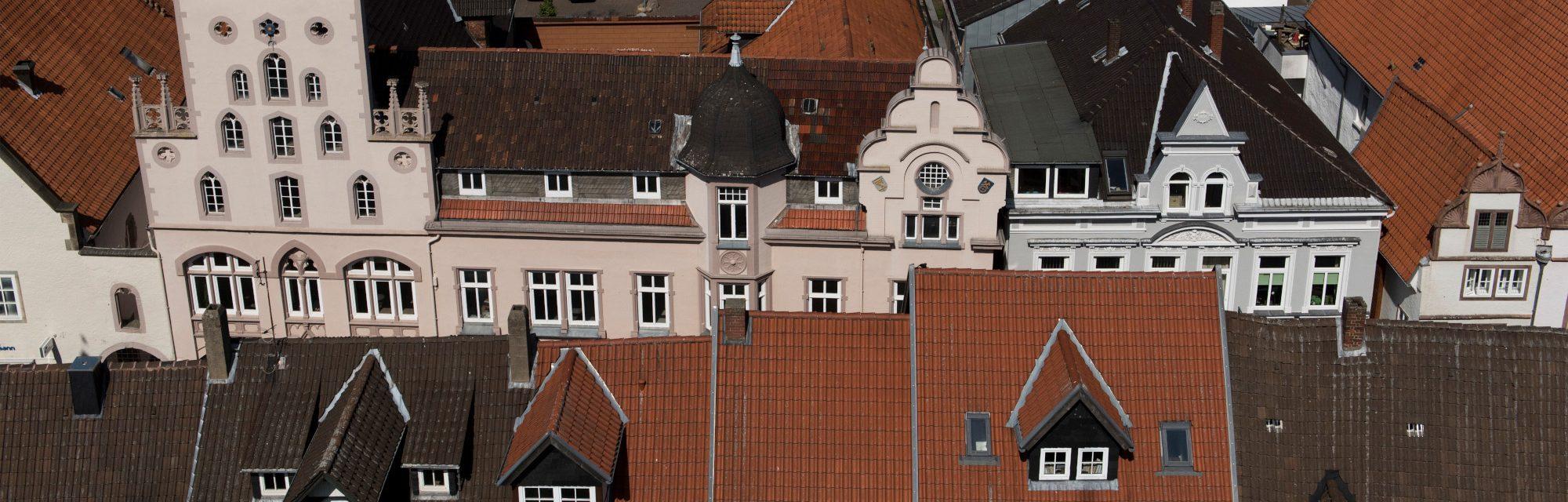 Städtebauförderung in Lemgo / Luftaufnahme Kernstadt